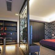 卧室黑色背景墙设计