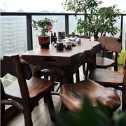 阳台木质茶几设计