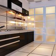 一字型厨房展示