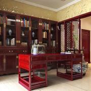 红木制作的家居书房书架