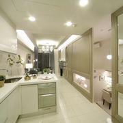 别墅现代厨房图片