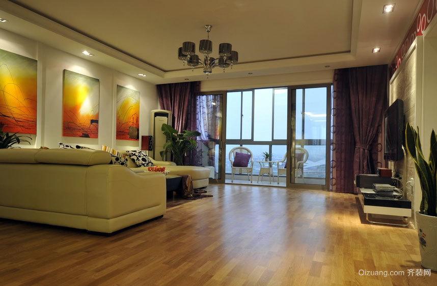 温馨简约新房三室一厅家庭室内装修效果图