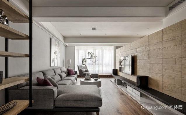 2015全新现代简约三居室大空间装修效果图