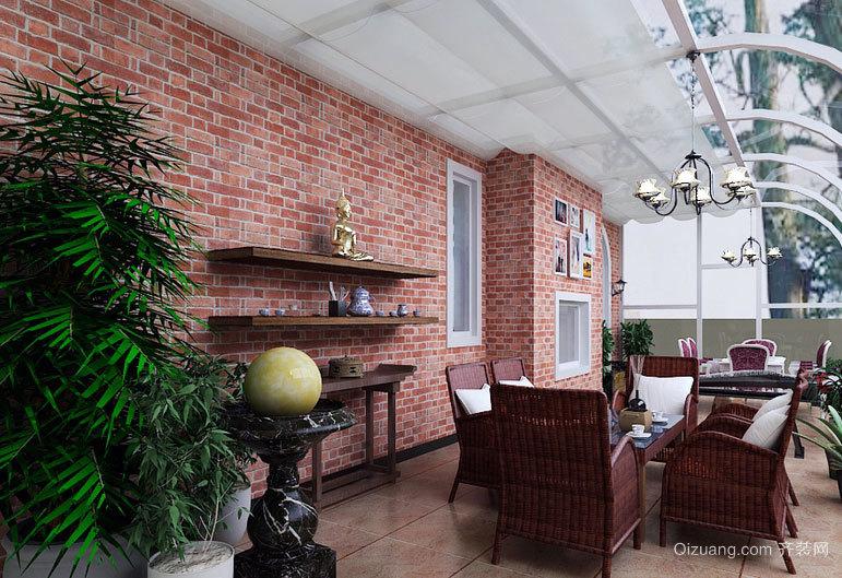 别墅型休闲时光露台阳光房装修效果图大全