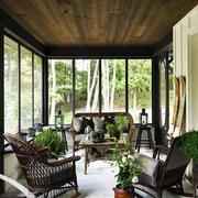 阳光房天然木吊顶