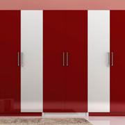 红白相间的衣柜图