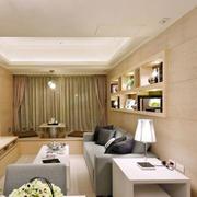 房屋客厅简约吊顶设计