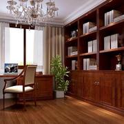 中式风格书房吧台效果图