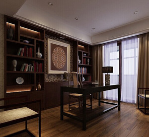 别墅书房窗帘