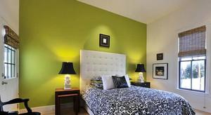 绿色清新卧室装饰