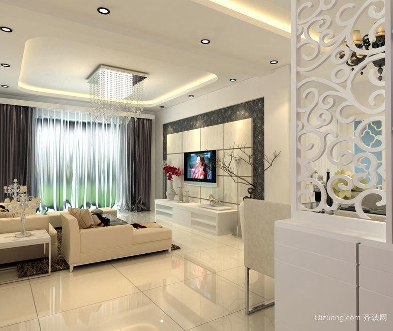 舒适温馨的大户型简欧客厅装修效果图鉴赏