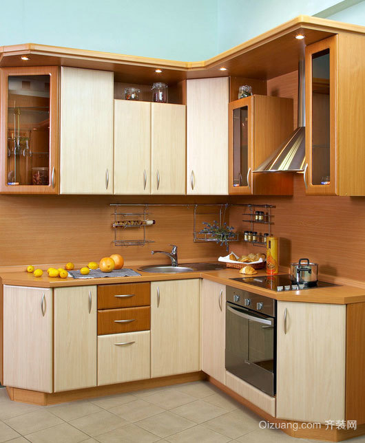 120平米精致高贵的欧式厨柜装修效果图大全