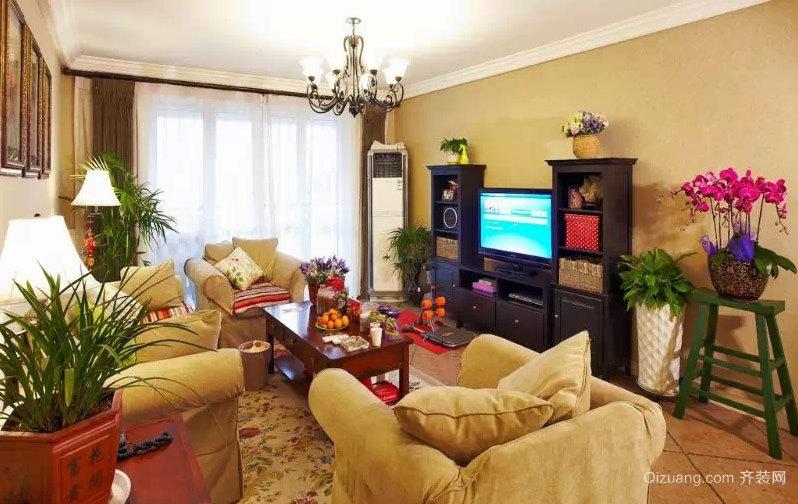 130平米美式精致漂亮惹人爱的房屋装修效果图