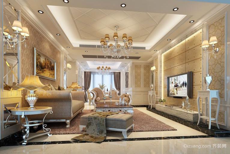 多姿多彩的韩式客厅吊顶装修效果图
