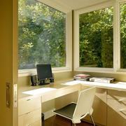 清新书房书桌