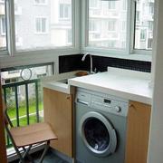 阳台洗衣机放置