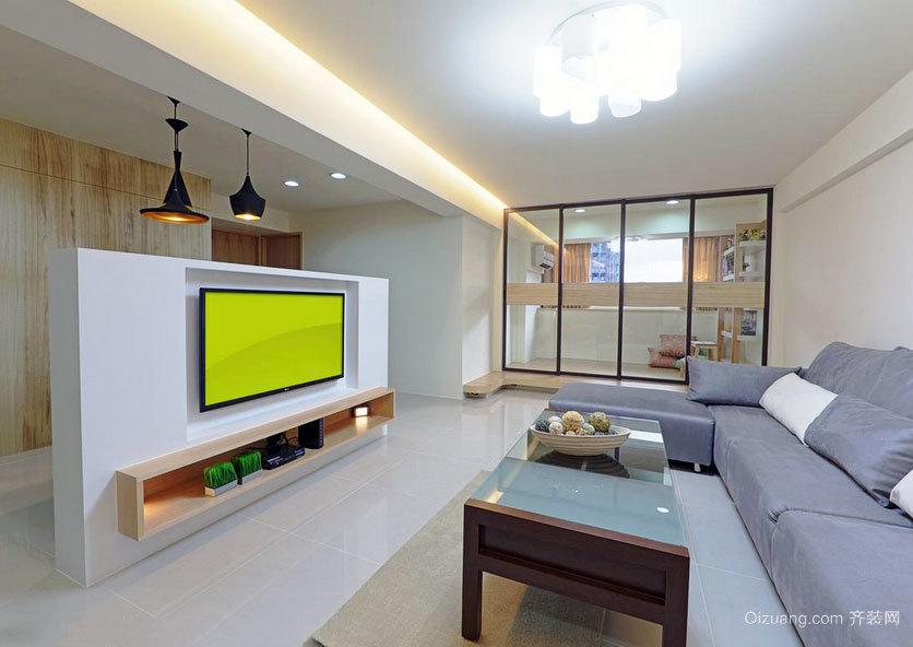 日式清新优雅小户型家庭室内装修效果图