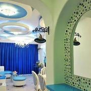 地中海风格房屋镜子摆设