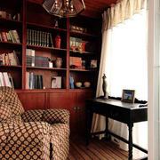 书房木质书柜展示