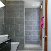 卫生间灰色瓷砖图