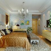 清新自然的三室一厅卧室展示
