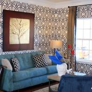 沙发背景装饰画欣赏