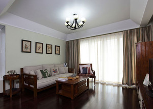 2015舒适度极好的实木沙发背景墙装修效果图鉴赏