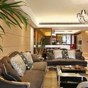 室内客厅舒适灰色沙发