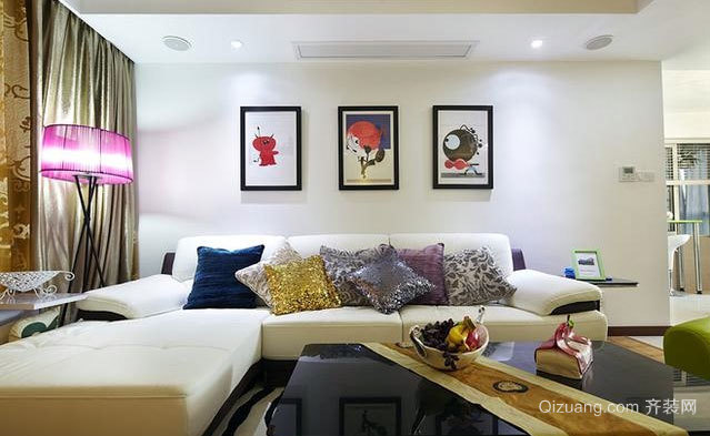 120平米三居室现代简约风格的房屋装修效果图