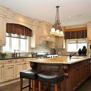 美式现代厨房吧台展示