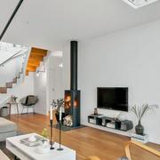 白色公寓客厅图