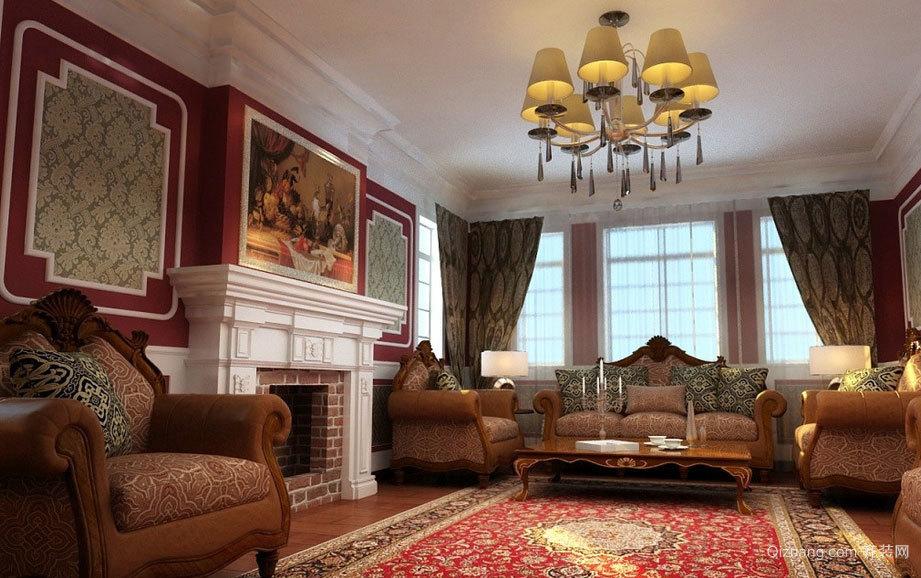 完美华丽的欧式客厅吊顶装修效果图大全