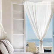 别墅白色窗帘展示