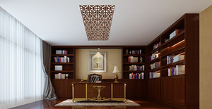 大方得体的欧式古典风格书房设计装修效果图大全