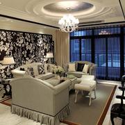 奢华的客厅吊顶吊灯设计
