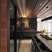 别墅餐厅木质吊顶