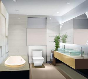 2015单身公寓豪华欧式洗手间装修效果图鉴赏