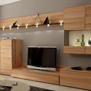 原木色的组合电视柜设计