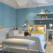 儿童房蓝色设计