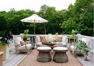 使人全身心放松的露台花园装修效果图