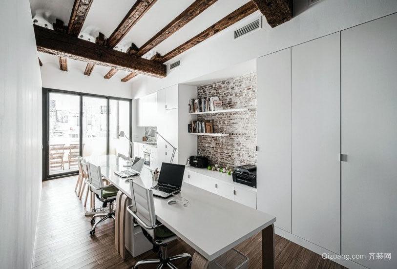 办公住宅一体化的大户型别墅装修设计效果图