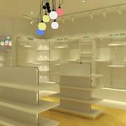 白色服装店货架设计