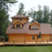 自然的木屋外观图片