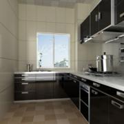 黑白厨房装饰图
