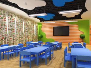 轻快的都市幼儿园小班教室布置设计效果图大全