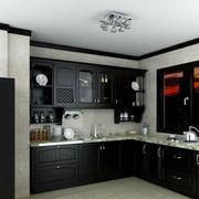 黑白色厨房橱柜设计