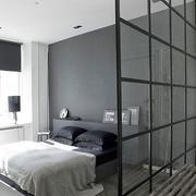 卧室玻璃隔断图