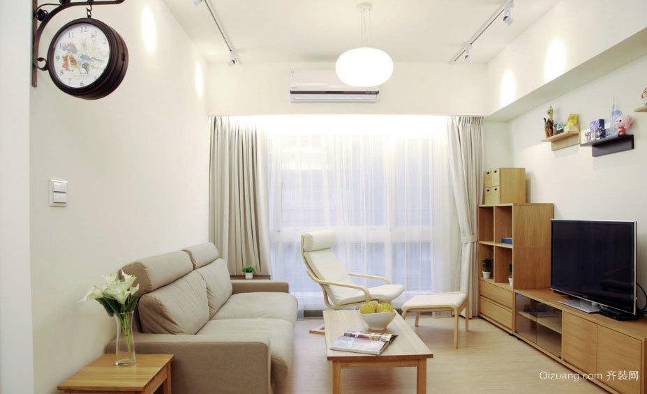 80平米木纹原色日式简约漂亮的装修设计图