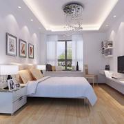 白色卧室吊灯图