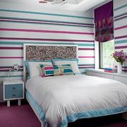 鲜艳的卧室条纹背景